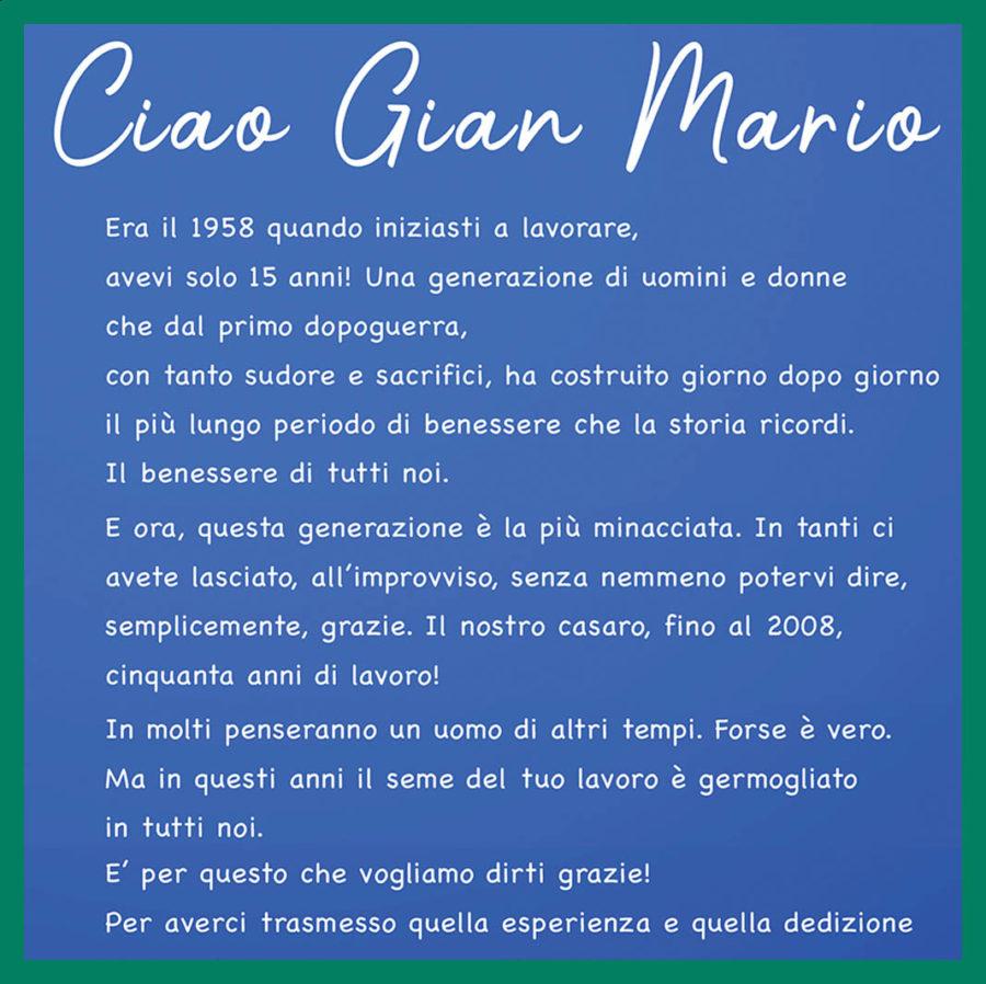 ciao Gian Mario